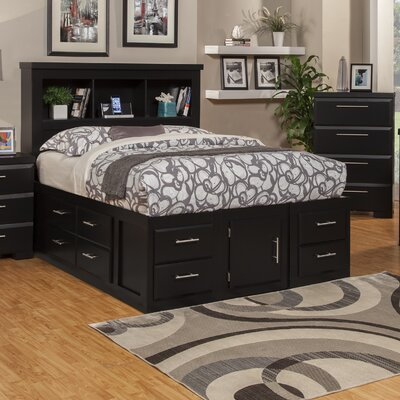 Serenity Storage Platform Bed Size: Queen