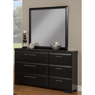 Serenity 6 Drawer Double Dresser with Mirror