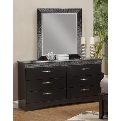 Jolie 6 Drawer Dresser with Mirror 35806