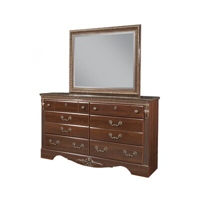 Raphael 6 Drawer Double Dresser with Mirror