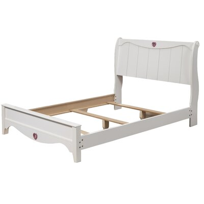 Sparkling Hearts Sleigh Bed Size: Twin