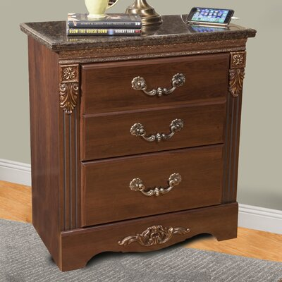 Raphael 2 Drawer Nightstand