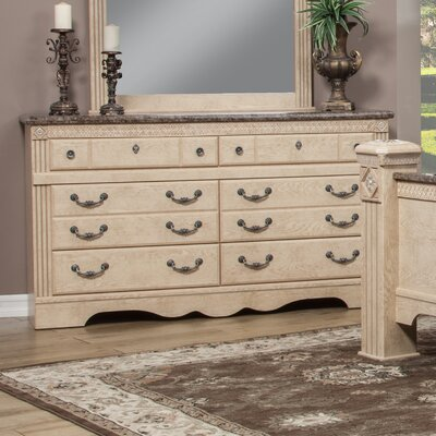 Amalfi 6 Drawer Double Dresser