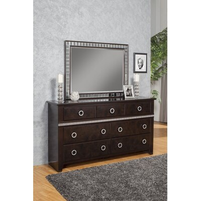 Borden 7 Drawer Double Dresser with Mirror