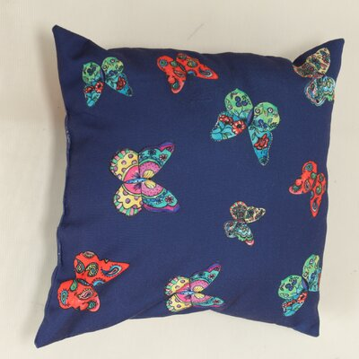 Decorative Butterflies Throw Pillow Color: Blue