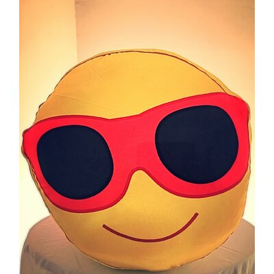 Mr. Cool Smiley Throw Pillow