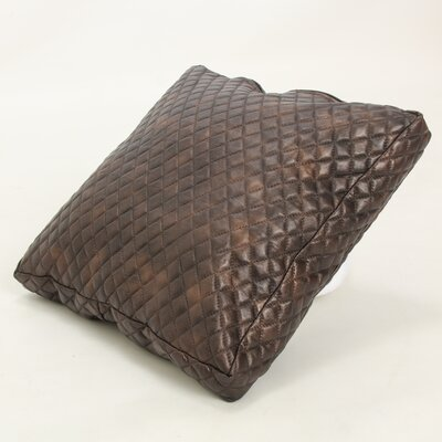 Faux Leather Throw Pillow Color: Brown