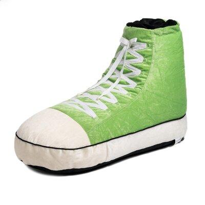 Sneaker Bean Bag Lounger Upholstery: Green