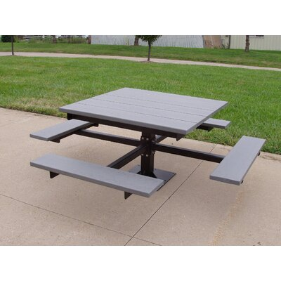 Recycled Plastic Picnic T-Table Finish: Green