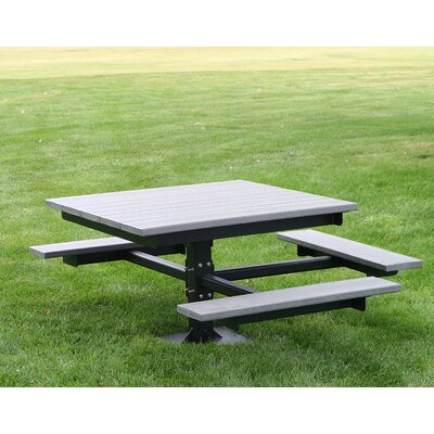 Recycled Plastic Picnic T-Table Finish: Cedar
