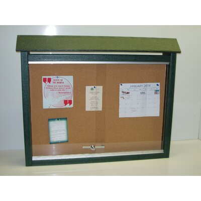 Recycled Plastic Medium Message Center One Side No Post Finish: Green