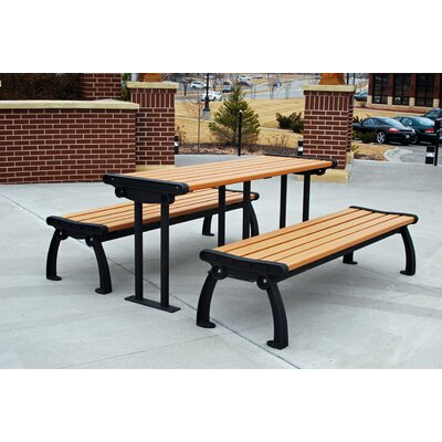 Amazing Heritage Recycled Plastic Picnic Table - Product picture - 12752