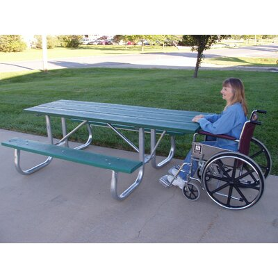 Recycled Plastic Galvanized Picnic Table Finish: Cedar, Mounting Type: None
