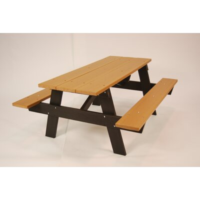 Recycled Plastic A Frame Picnic Table - Product photo