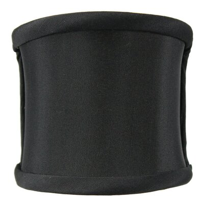 4 Linen Drum Wall Sconce Shade Color: Black