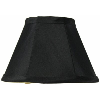 Classics Brass 6 Shantung Empire Lamp Shade Color: Black / Gold