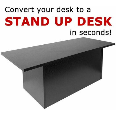 12 H x 36 W Standing Desk Conversion Unit Finish: Black