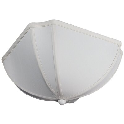 Deluxe 11 Linen Ceiling Fan Bowl Shade
