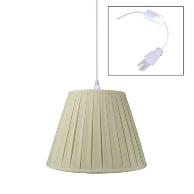1-Light Pendant Shade Color: Sand Linen