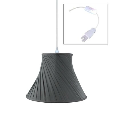 1-Light Pendant Shade Color: Black