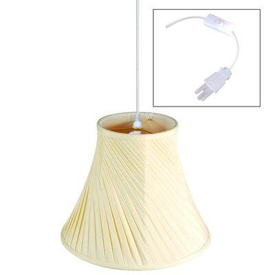1-Light Pendant Shade Color: Eggshell