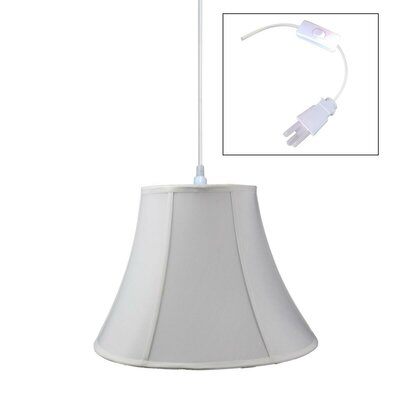 1-Light Pendant Shade Color: White