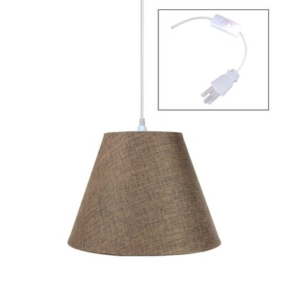 1-Light Mini Pendant Shade Color: Khaki Burlap