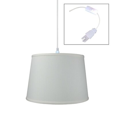 1-Light Drum Pendant Shade Color: Light Oatmeal