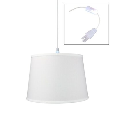 1-Light Drum Pendant Shade Color: White