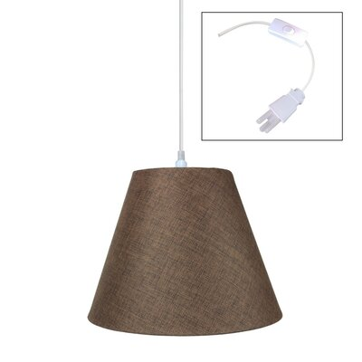 1-Light Pendant Shade Color: Khaki Burlap