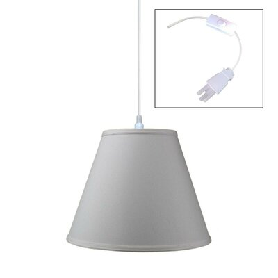 1-Light Pendant Shade Color: Light Oatmeal
