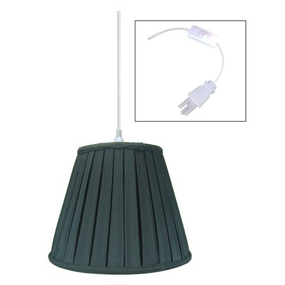 1-Light Mini Pendant Shade Color: Black, Size: 180
