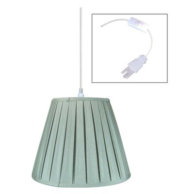 1-Light Mini Pendant Shade Color: Gray, Size: 180 H x 14 W x 14 D