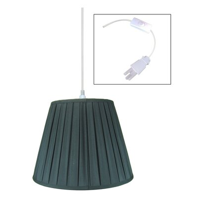 1-Light Mini Pendant Shade Color: Black, Size: 180 H x 18 W x 18 D