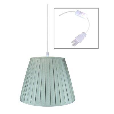 1-Light Mini Pendant Shade Color: Gray, Size: 180 H x 18 W x 18 D