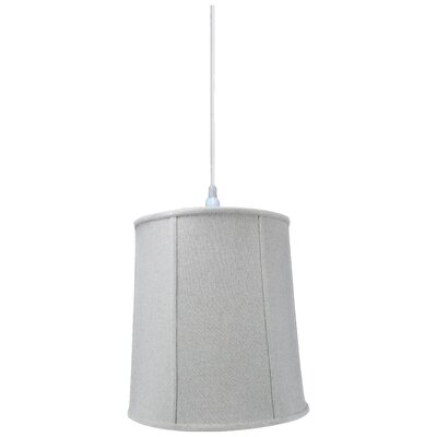1-Light Drum Pendant Shade Color: Sand Linen