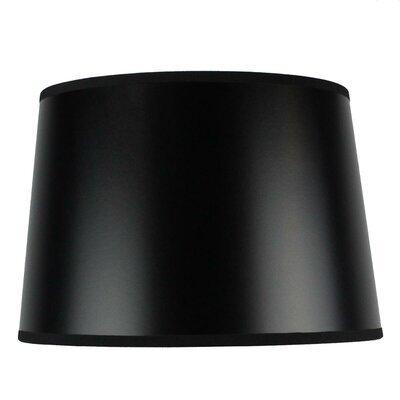Shallow 12 Shantung Drum Lamp Shade Color: Black