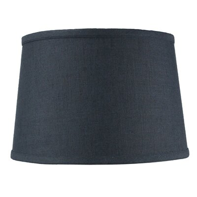 Shallow 12 Shantung Drum Lamp Shade Color: Slate Blue