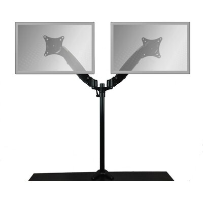 HOME Concept PopUp Series Air Assist Dual Arm Monitor Stand - Finish: Black