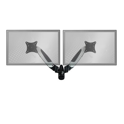 Sit-Stand Standard Height Adjustable Universal 2 Screen Wall Mount Finish: White