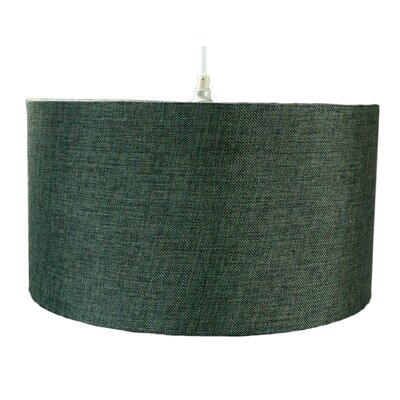 1-Light Drum Pendant Shade Color: Granite Grey Burlap