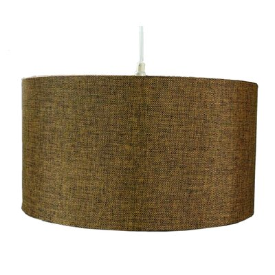 1-Light Drum Pendant Shade Color: Chocolate Burlap