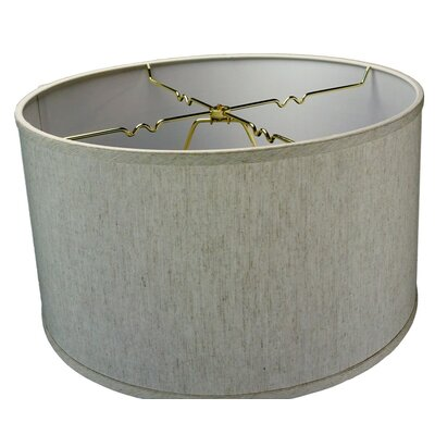 Shallow 18 Linen Drum Lamp Shade
