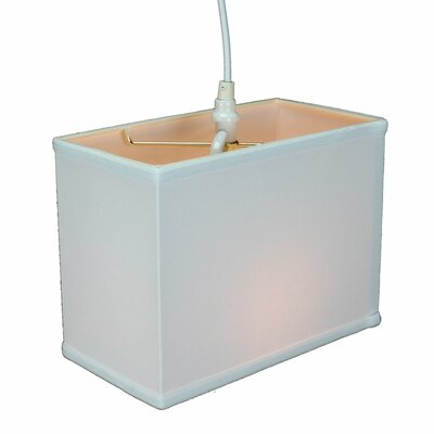 Rectangular 1-Light Drum Pendant