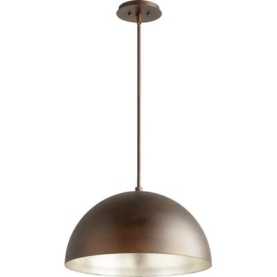 1-Light Inverted Pendant Shade Color: Aged Silver