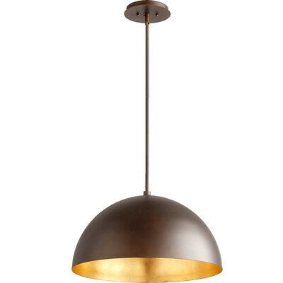 1-Light Inverted Pendant Shade Color: Gold