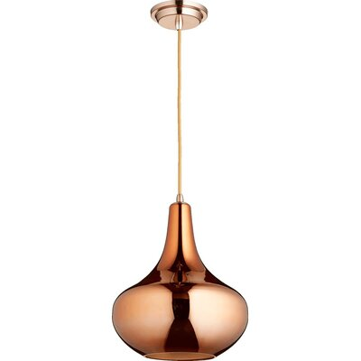 1-Light Mini Pendant Finish: Satin Copper