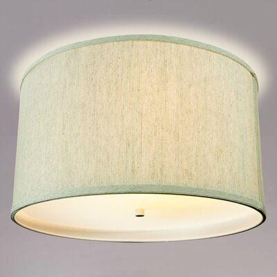 Kimes Drum Flush Mount Shade Color: Oatmeal