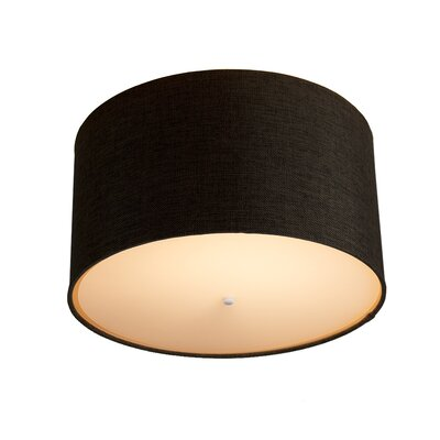 Kimmons Drum Flush Mount Shade Color: Chocolate