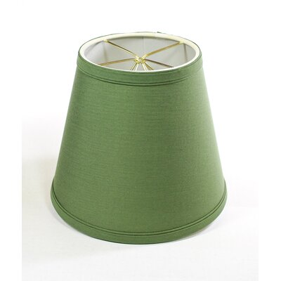 7 Clip on Linen Empire Lamp Shade Finish: Kale Green